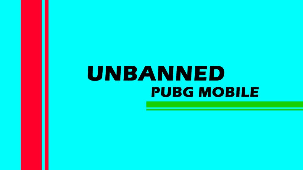 PUBG mobile unban