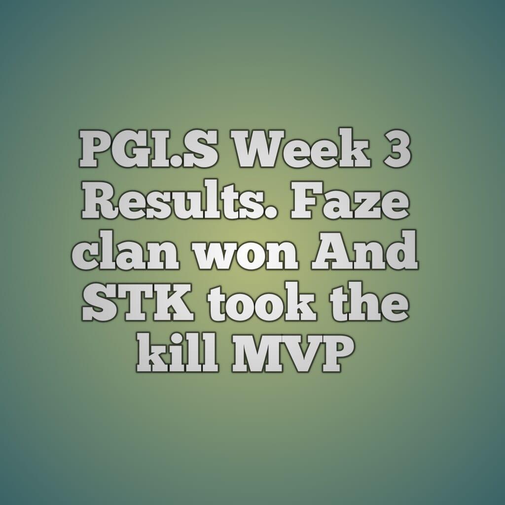 pgi.s week 3 results